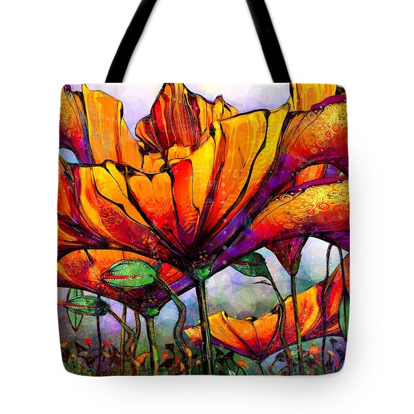 March Of The Poppies Tote Bag