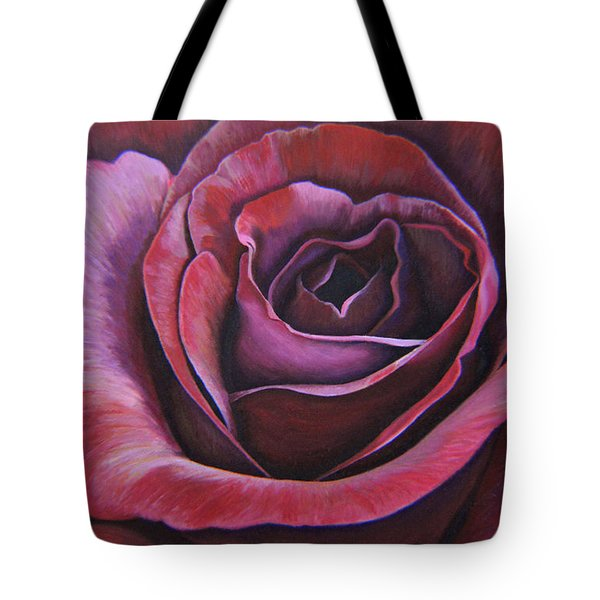Tote Bag featuring the painting March Rose by Thu Nguyen