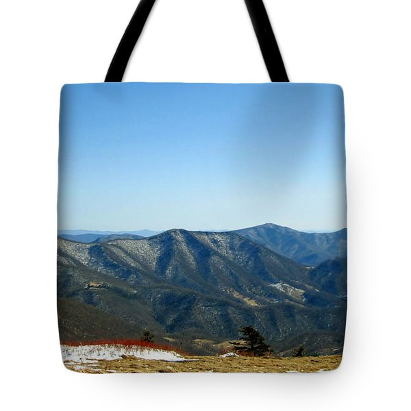 March Snow In The Mountains Tote Bag