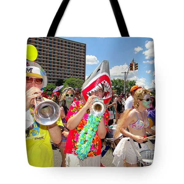 Tote Bag featuring the photograph Marching Band by Ed Weidman