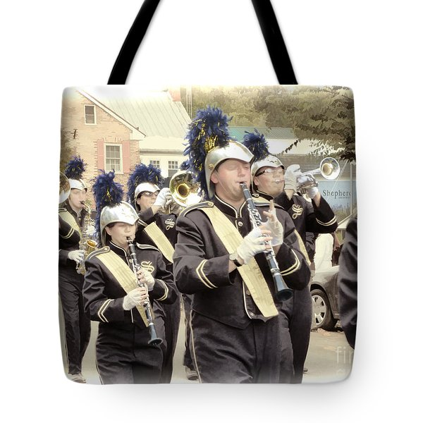 Marching Band - Shepherd University Ram Band At Homecoming 2012 Tote Bag