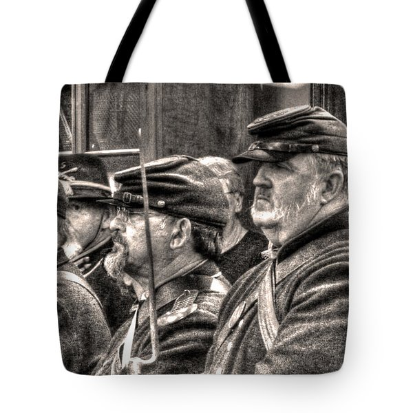 Tote Bag featuring the digital art Marching Orders by William Fields