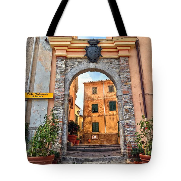 Marciana - Ancient Gate Tote Bag by Antonio Scarpi