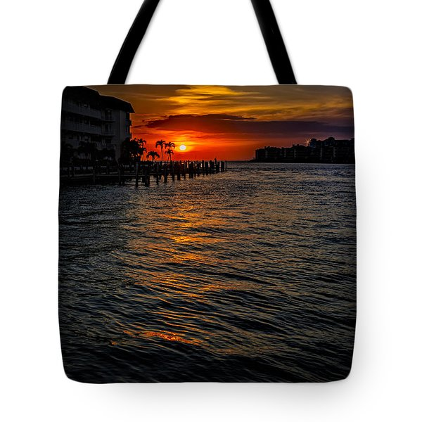 Tote Bag featuring the photograph Marco Island Sunset 43 by Mark Myhaver