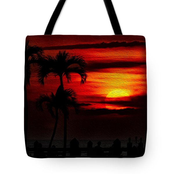 Tote Bag featuring the photograph Marco Island Sunset 59 by Mark Myhaver
