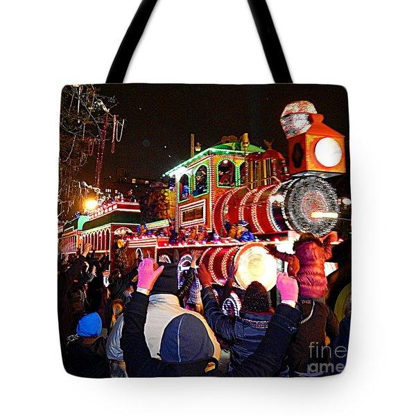 New Orleans Mardi Gras 2014 Orpheus Super Float Smokey Mary Tote Bag