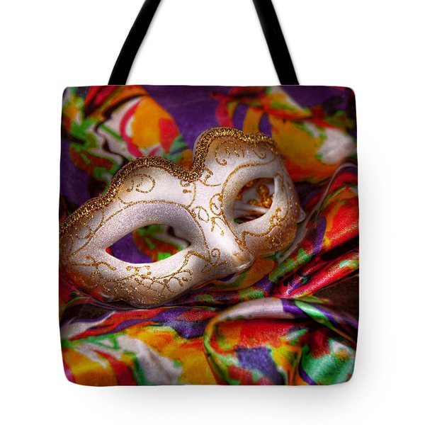 Mardi Gras - Celebrating Mardi Gras  Tote Bag by Mike Savad