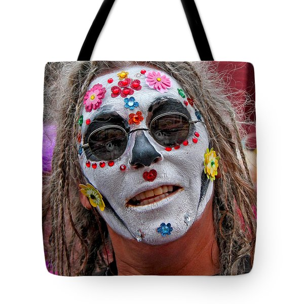 Mardi Gras Happy Face Tote Bag