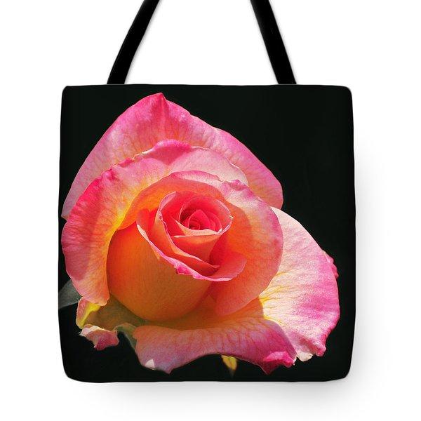 Mardi Gras Floribunda Rose Tote Bag by Rona Black