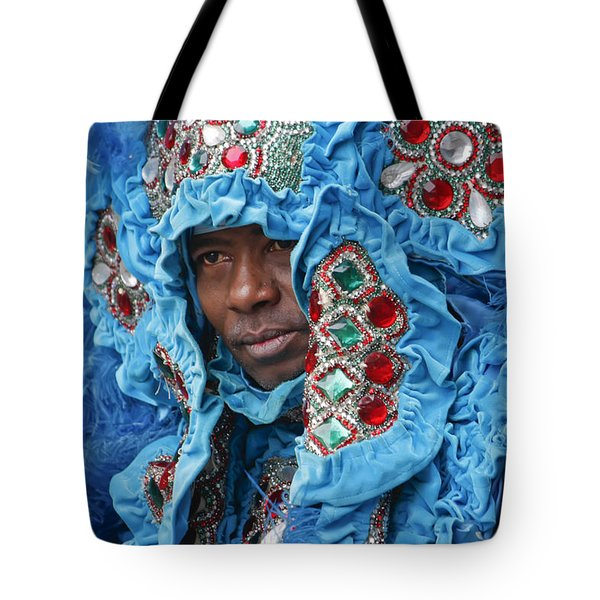 Tote Bag featuring the photograph Mardi Gras Indian by KG Thienemann