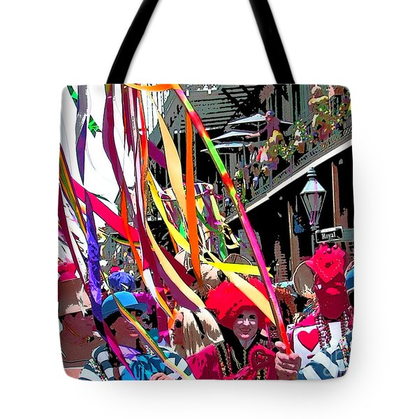 Mardi Gras Marching Parade Tote Bag