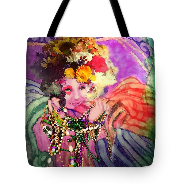 Mardi Gras Queen Tote Bag