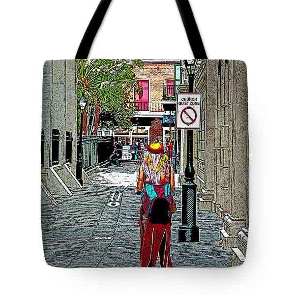 Mardi Gras In French Quarter Tote Bag