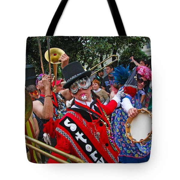 Mardi Gras Storyville Marching Group Tote Bag