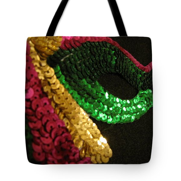 Tote Bag featuring the photograph Mardi Gras Time by Beth Vincent