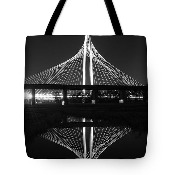 Margaret Hunt Hill Bridge Reflection Tote Bag
