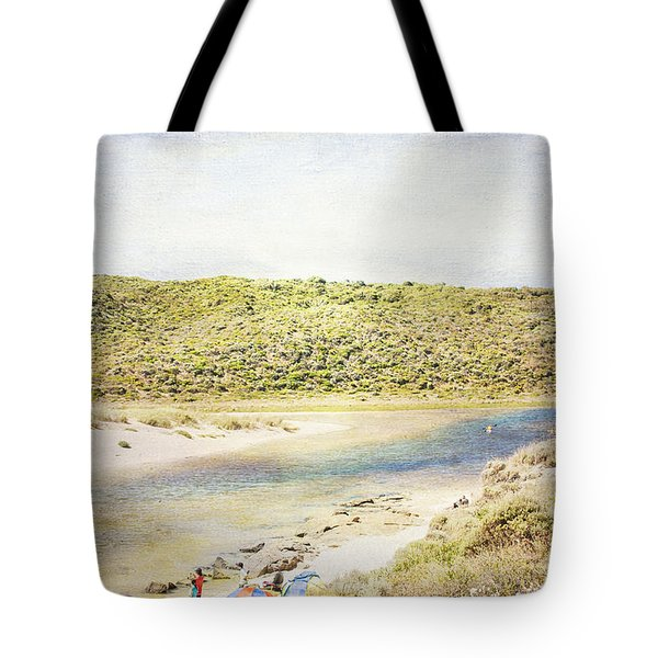 Margaret Rivermouth In Western Australia Tote Bag by Elaine Teague
