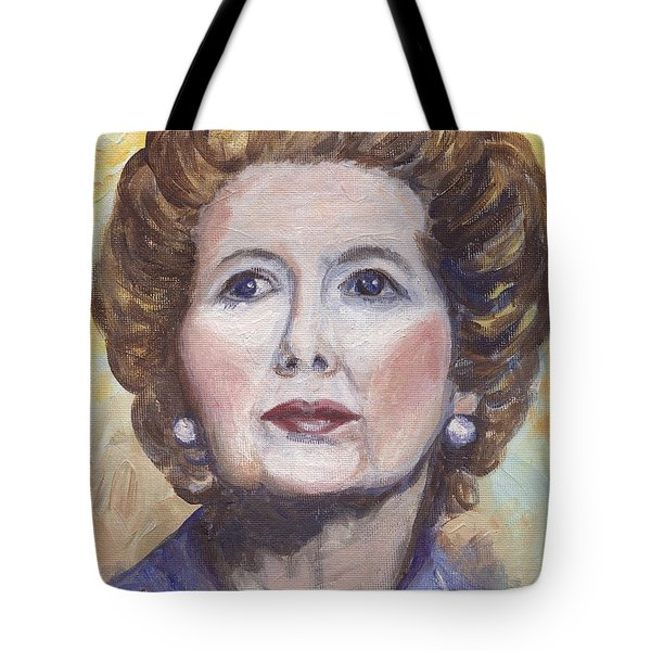 Margaret Thatcher Two Tote Bag by Linda Mears
