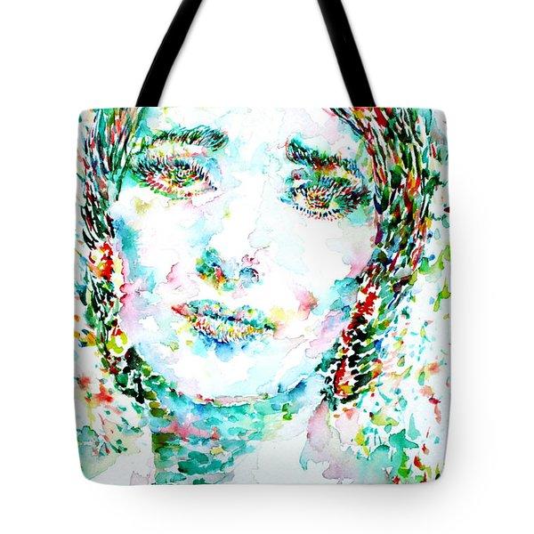 Maria Callas - Watercolor Portrait.1 Tote Bag