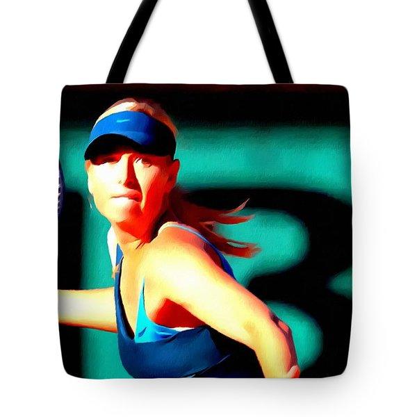Maria Sharapova Tennis Tote Bag by Lanjee Chee