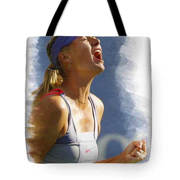 Maria Sharapova - Us Open 2011 Tote Bag by Don Kuing
