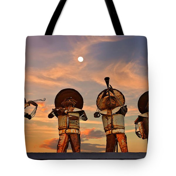 Tote Bag featuring the photograph Mariachi Band by Christine Till