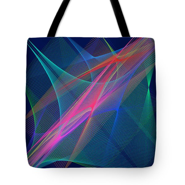 Tote Bag featuring the digital art Mariage by Karo Evans