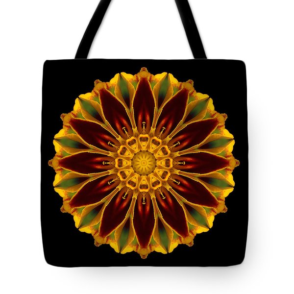 Tote Bag featuring the photograph Marigold Flower Mandala by David J Bookbinder