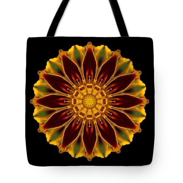 Marigold Flower Mandala Tote Bag