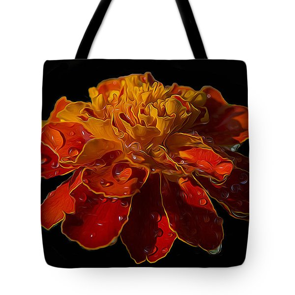 Marigold Tagetes Tote Bag by Michael Moriarty