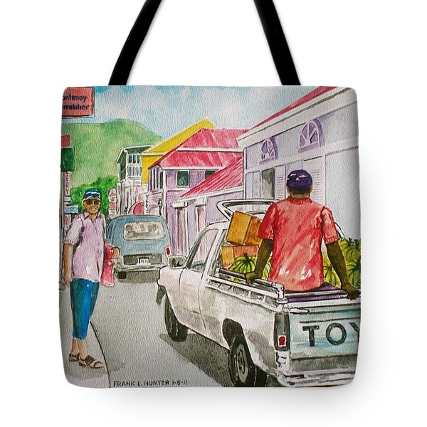 Marigot St. Martin Tote Bag by Frank Hunter