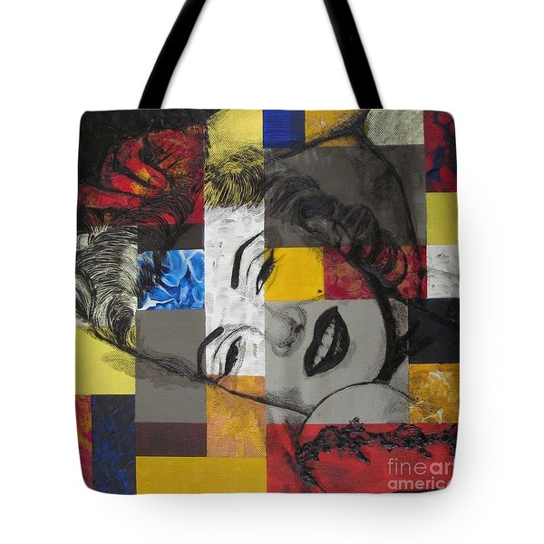 Marilyn In Abstract Tote Bag