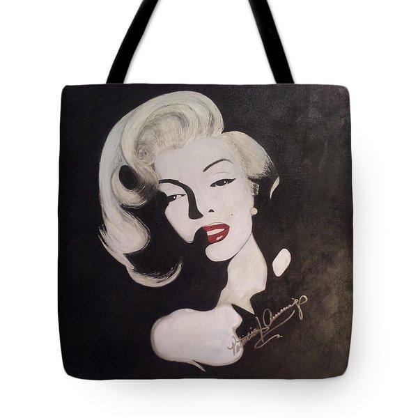 Marilyn In The Moonlight Tote Bag