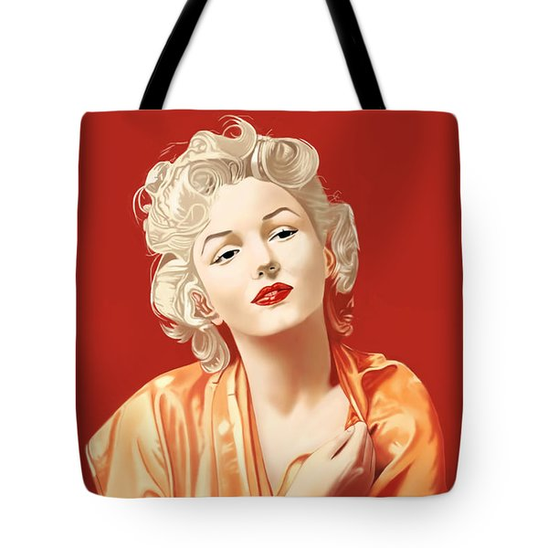 Marilyn Monroe Tote Bag by Andrew Harrison