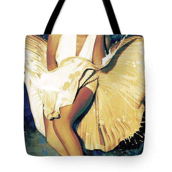 Marilyn Monroe Artwork 4 Tote Bag by Sheraz A