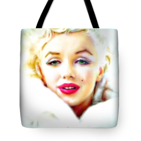 Marilyn Monroe Tote Bag by Barbara Chichester