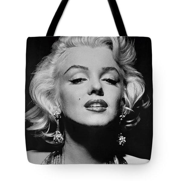 Marilyn Monroe Black And White Tote Bag