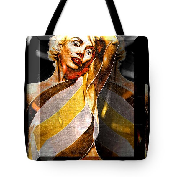 Tote Bag featuring the digital art Marilyn Monroe by Daniel Janda