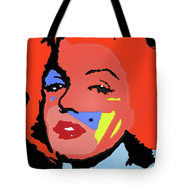 Marilyn Monroe In Color Tote Bag by Robert Margetts
