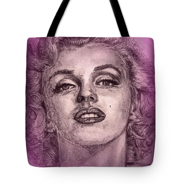 Marilyn Monroe In Pink Tote Bag by J McCombie