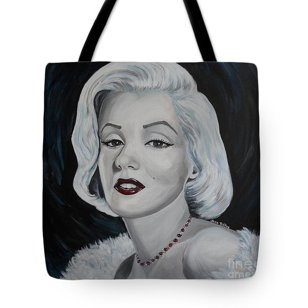 Tote Bag featuring the painting Marilyn Monroe by Julie Brugh Riffey