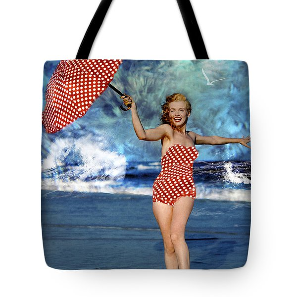 Marilyn Monroe - On The Beach Tote Bag