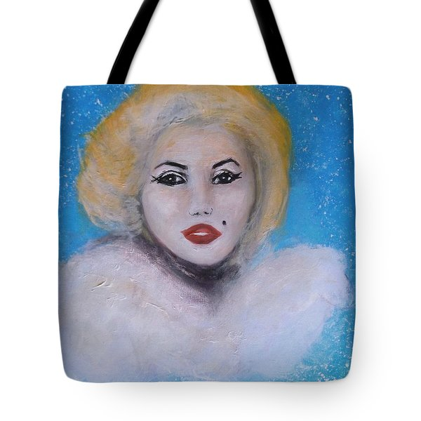 Marilyn Monroe Out Of The Blue Into The White Tote Bag