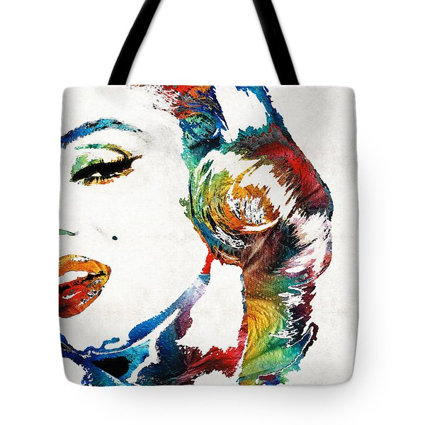 Tote Bag featuring the painting Marilyn Monroe Painting - Bombshell - By Sharon Cummings by Sharon Cummings