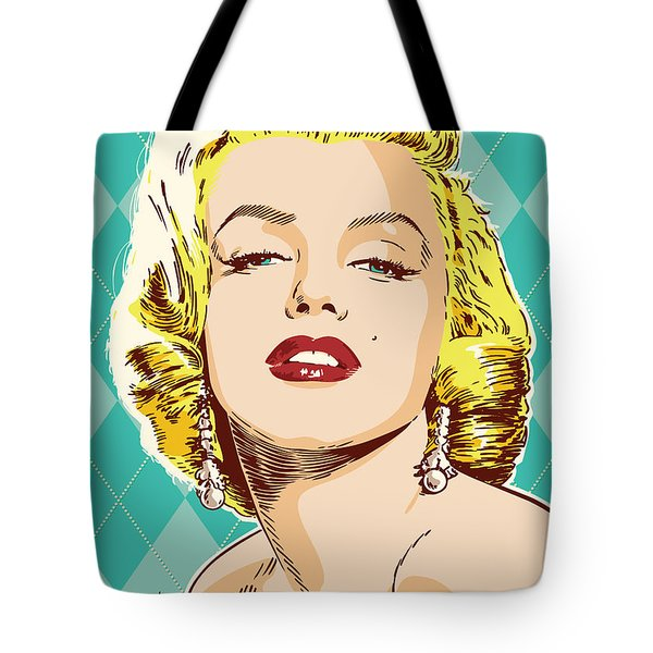 Marilyn Monroe Pop Art Tote Bag by Jim Zahniser