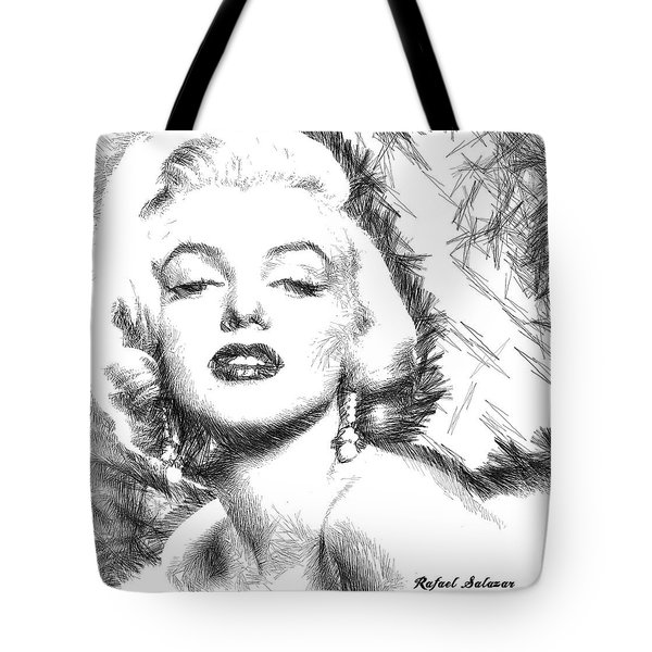 Marilyn Monroe - The One And Only  Tote Bag by Rafael Salazar