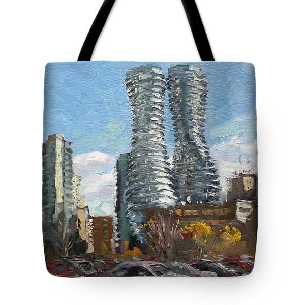 Marilyn Monroe Towers In Mississauga Tote Bag