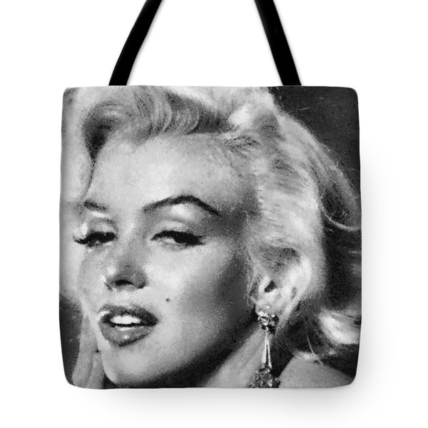 Beautiful Marilyn Monroe Unique Actress Tote Bag by Georgi Dimitrov