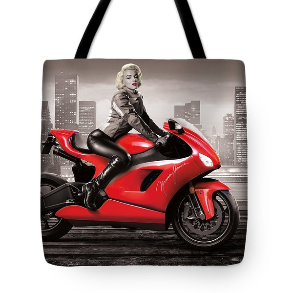 Marilyn's Ride Tote Bag