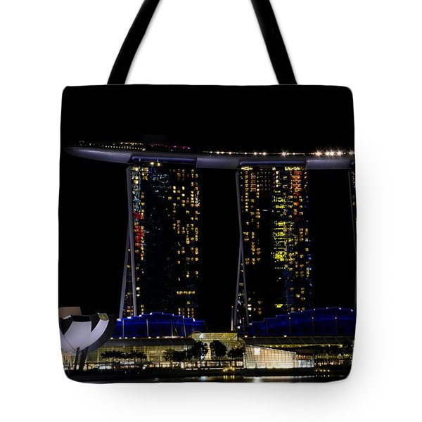 Marina Bay Sands Integrated Resort Hotel And Casino And Artscience Museum Singapore Marina Bay Tote Bag